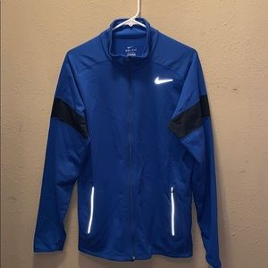 Nike Blue Running Zip Dri Fit Jacket Medium NWT
